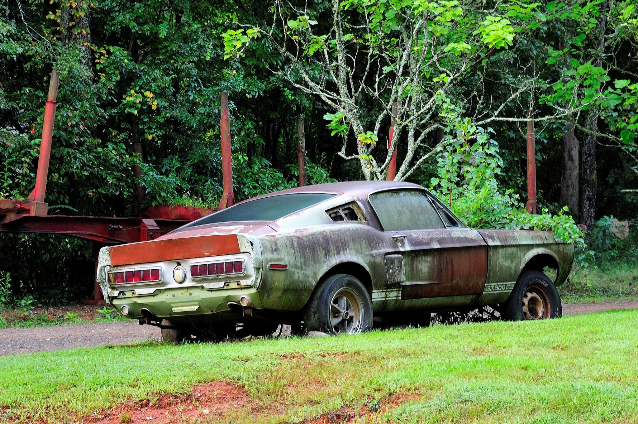1967 Ford Mustang Shelby Gt500 427 Yard Rust Usa 13