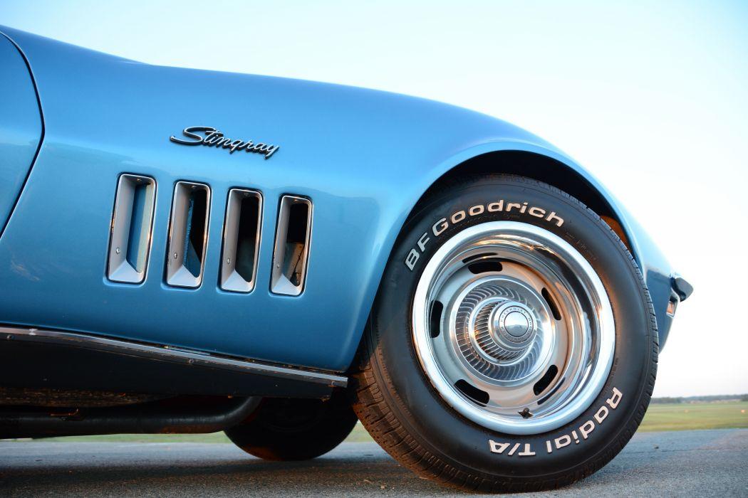 1969 Chevrolet Corvette Stingray Muscle Classic Old Original USA -04 wallpaper