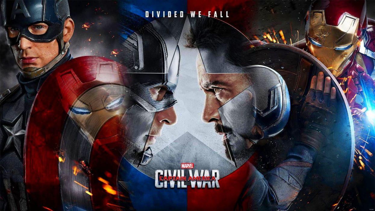 CAPTAIN AMERICA 3 Civil War marvel superhero action fighting 1cacw warrior sci-fi poster wallpaper