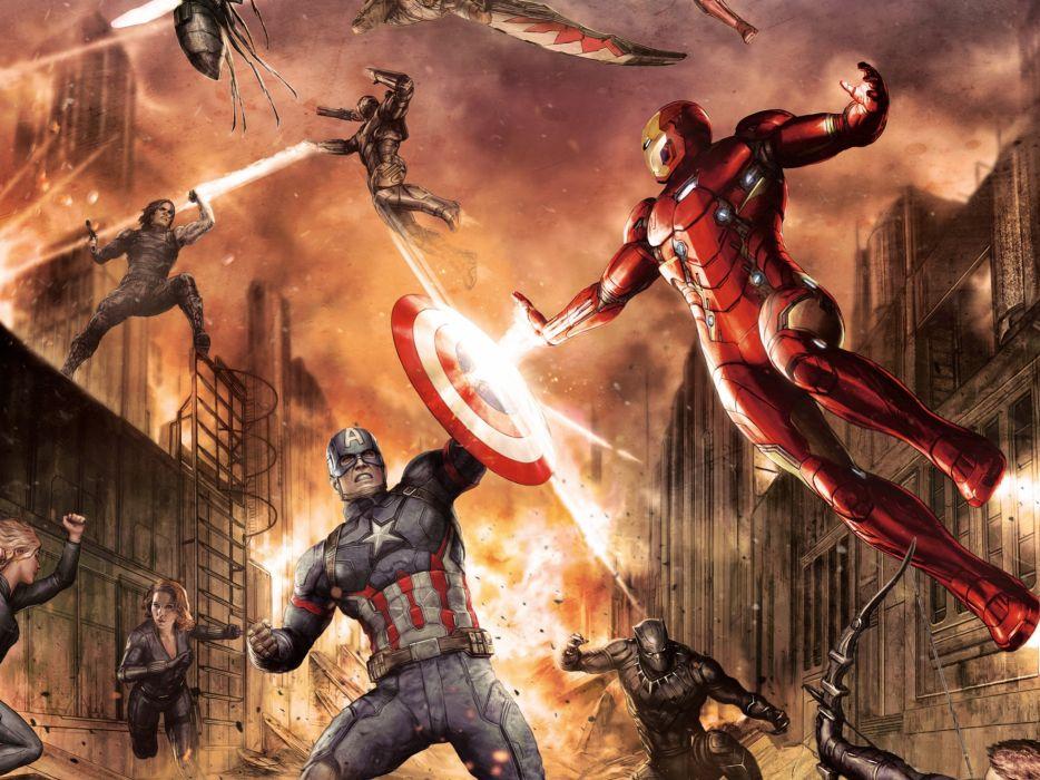 CAPTAIN AMERICA 3 Civil War marvel superhero action fighting 1cacw warrior sci-fi wallpaper