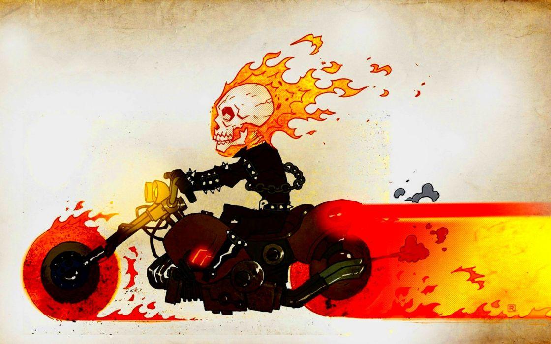 dark art artwork fantasy artistic original psychedelic horror evil creepy scary spooky halloween ghost rider skull chopper wallpaper