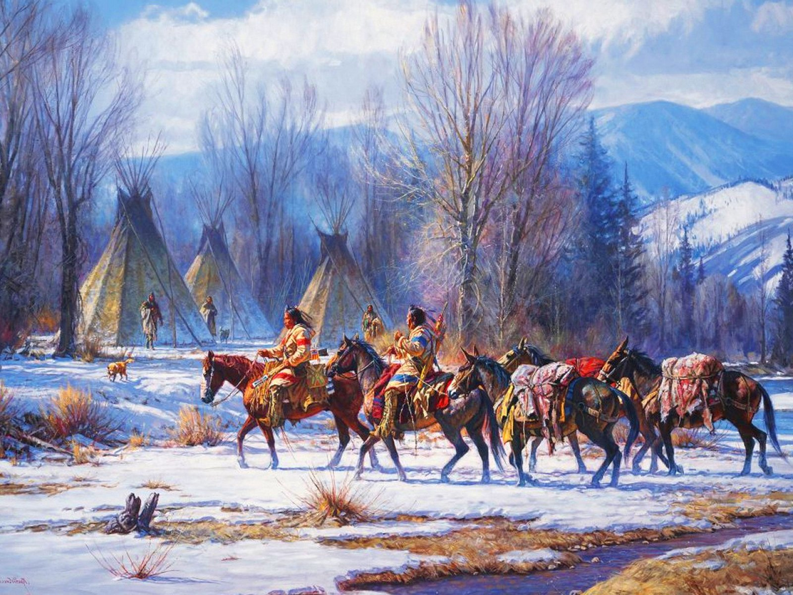 Native American Oil Painting Artists