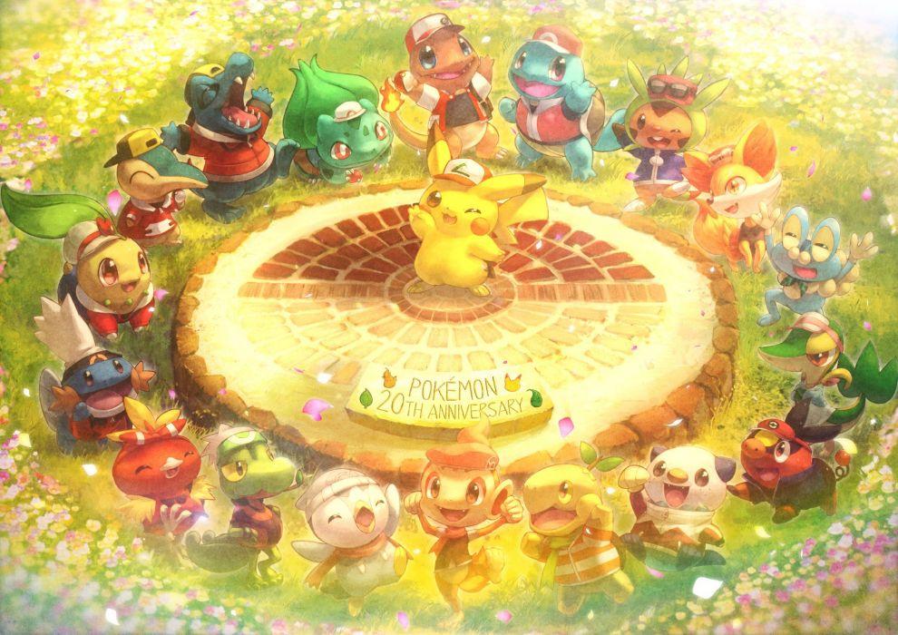 chespin chimchar cosplay fennekin froakie mudkip oshawott pikachu piplup pokemon snivy squirtle tepig toitoi508 torchic totodile treecko turtwig wallpaper