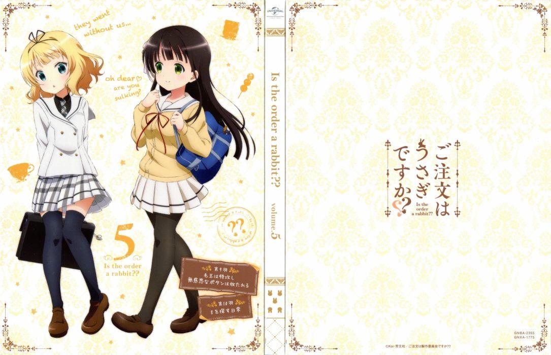Okuda Yousuke Kinema Citrus White Fox Gochuumon wa Usagi Desu ka Kirima Sharo Ujimatsu Chiya wallpaper