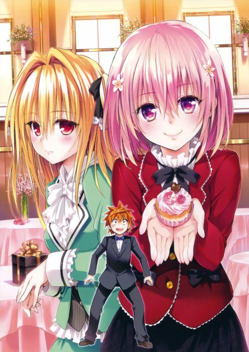 To LOVE-Ru Darkness Art Works Yuuki Rito Momo Velia Deviluke Konjiki no Yami wallpaper