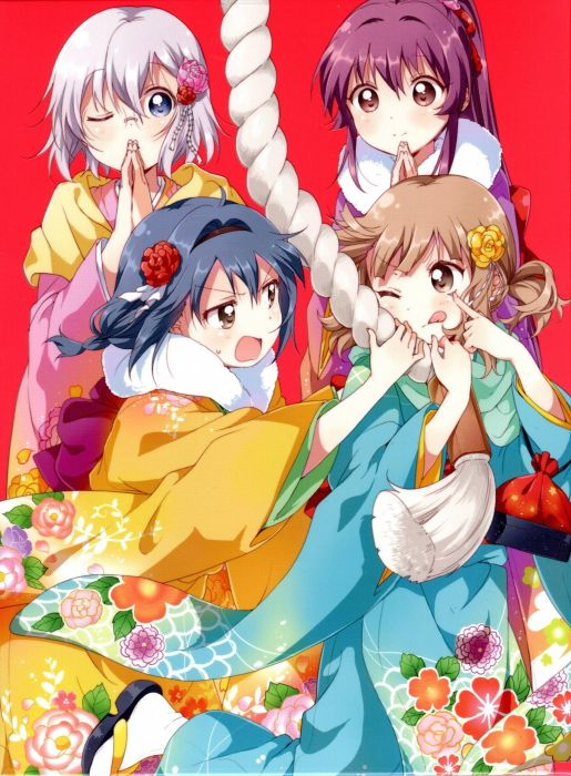 Yuru Yuri Oumuro Sakurako Ikeda Chitose Furutani Himawari wallpaper