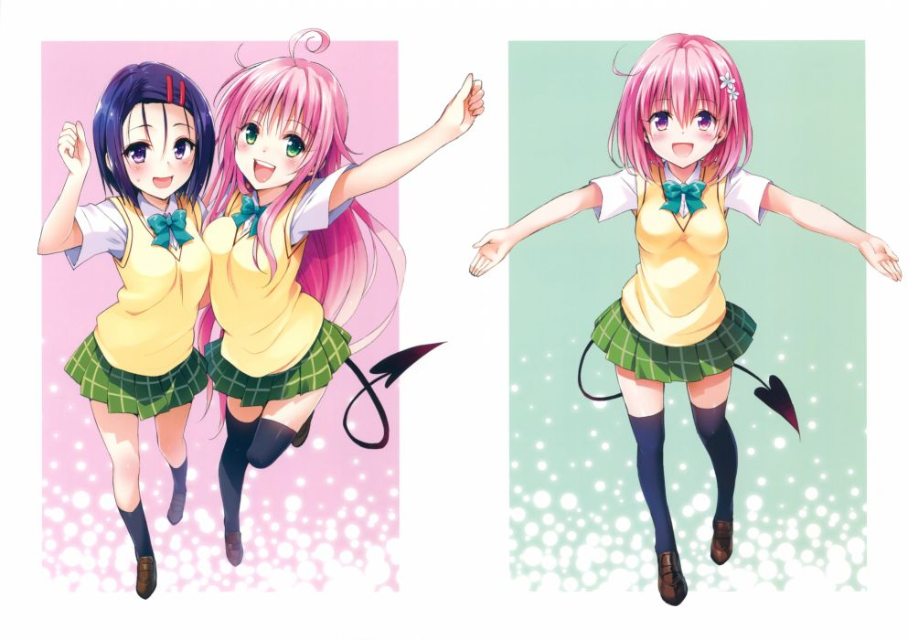 To LOVE-Ru Darkness Art Works Lala Satalin Deviluke Momo Velia Deviluke Sairenji Haruna wallpaper