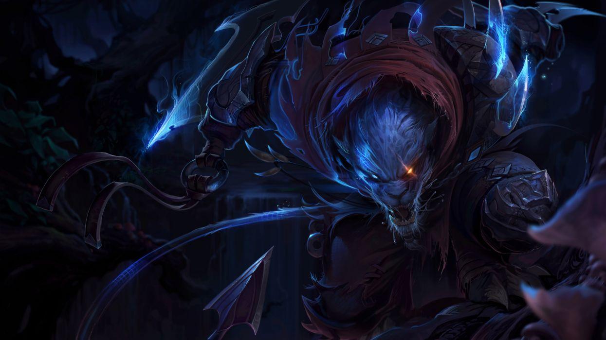 Night Hunter Rengar League Of Legends wallpaper