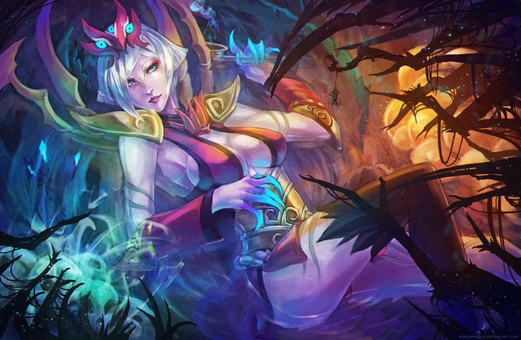 Bloodmoon Elise FanArt by MonoriRogue - League Of Legends wallpaper