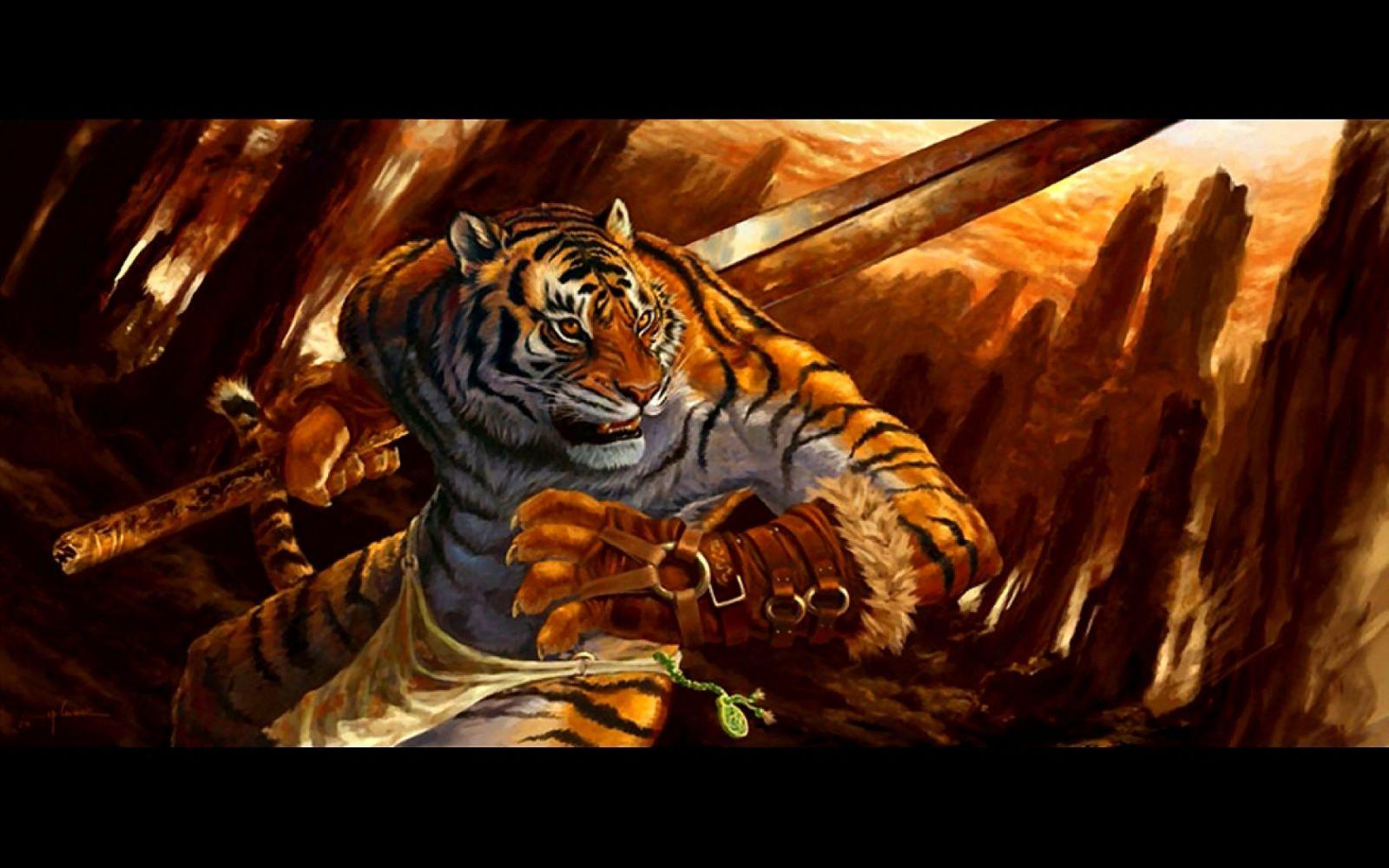 tigers vs warriors - HD1920×1200