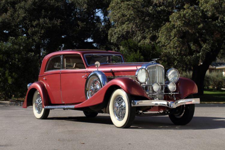 1931 Duesenberg Model-J 365 2385 Sunroof Sedan LWB Franay luxury retro vintage wallpaper