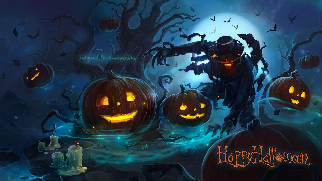 halloween espantapajaros calabazas wallpaper