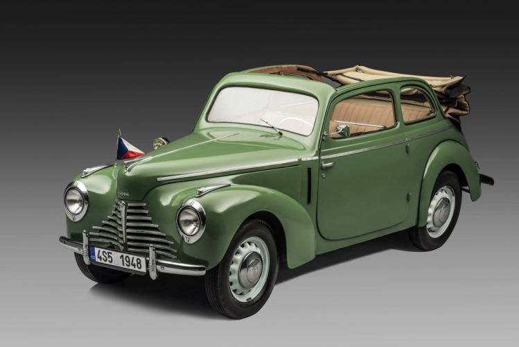1946-51 Skoda 1101 Tudor Cabriolet Type-938 retro wallpaper