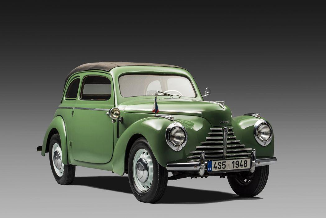 1946-51 Skoda 1101 Tudor Cabriolet Type-938 retro wallpaper