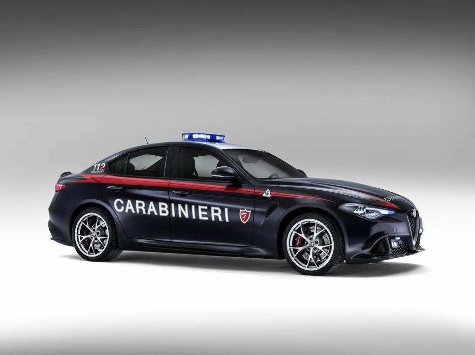 2016 Alfa Romeo Giulia Quadrifoglio Carabinieri 952 police emergency wallpaper