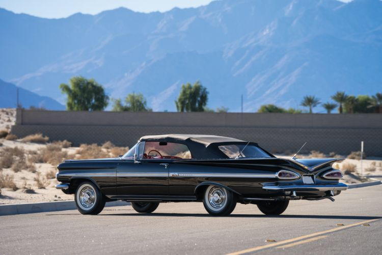 1959 Chevrolet Impala 348 320HP Convertible retro wallpaper