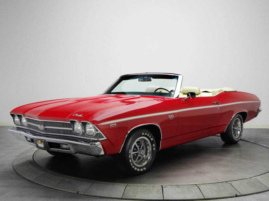 1969 Chevrolet Chevelle S-S 396 L34 Convertible muscle classic wallpaper