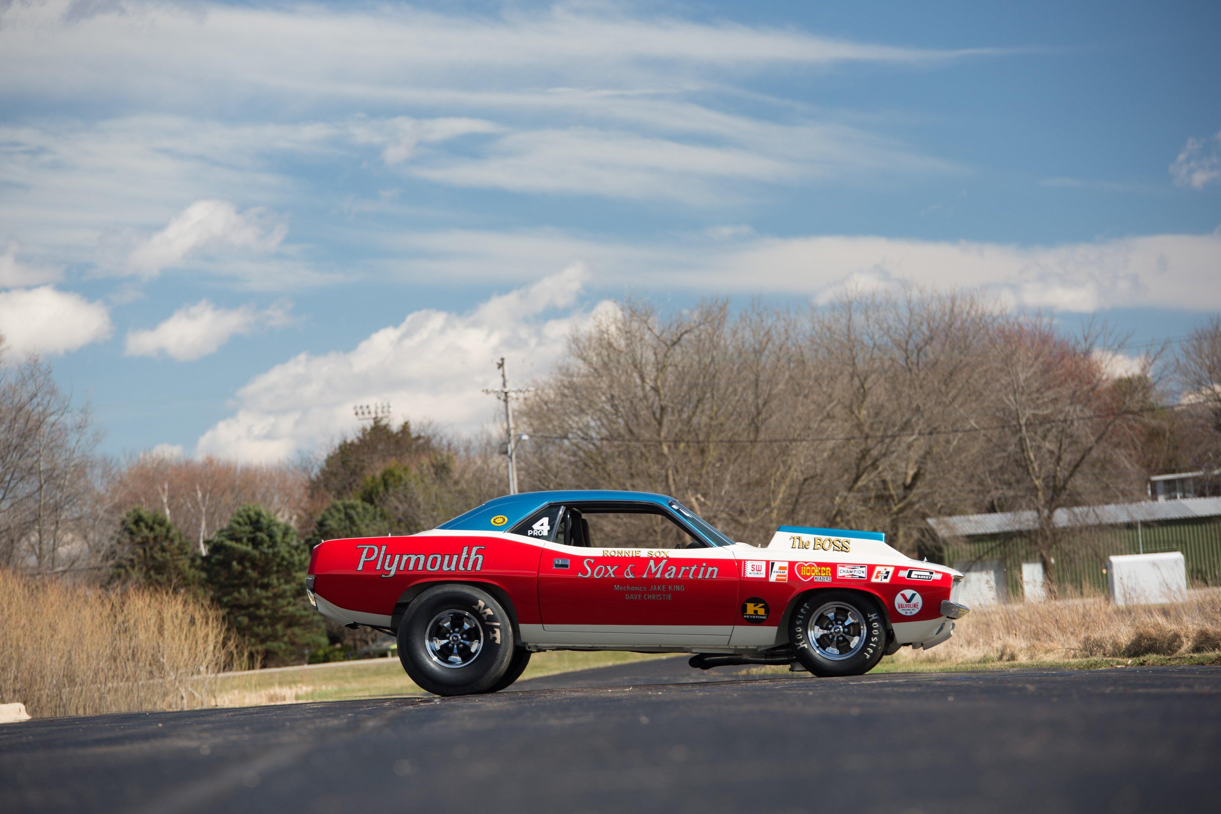 1971 Plymouth Hemi Cuda Sox Martin Nhra Drag Race Racing