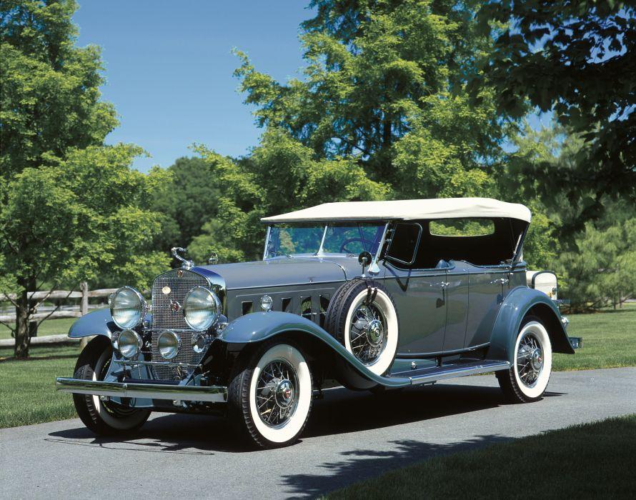 1930 Cadillac V16 452 Sport Phaeton Fleetwood luxury vintage retro wallpaper