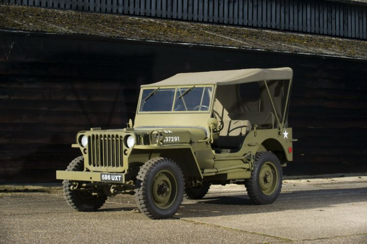 1944 Willys M-B jeep military offroad 4x4 suv retro wallpaper