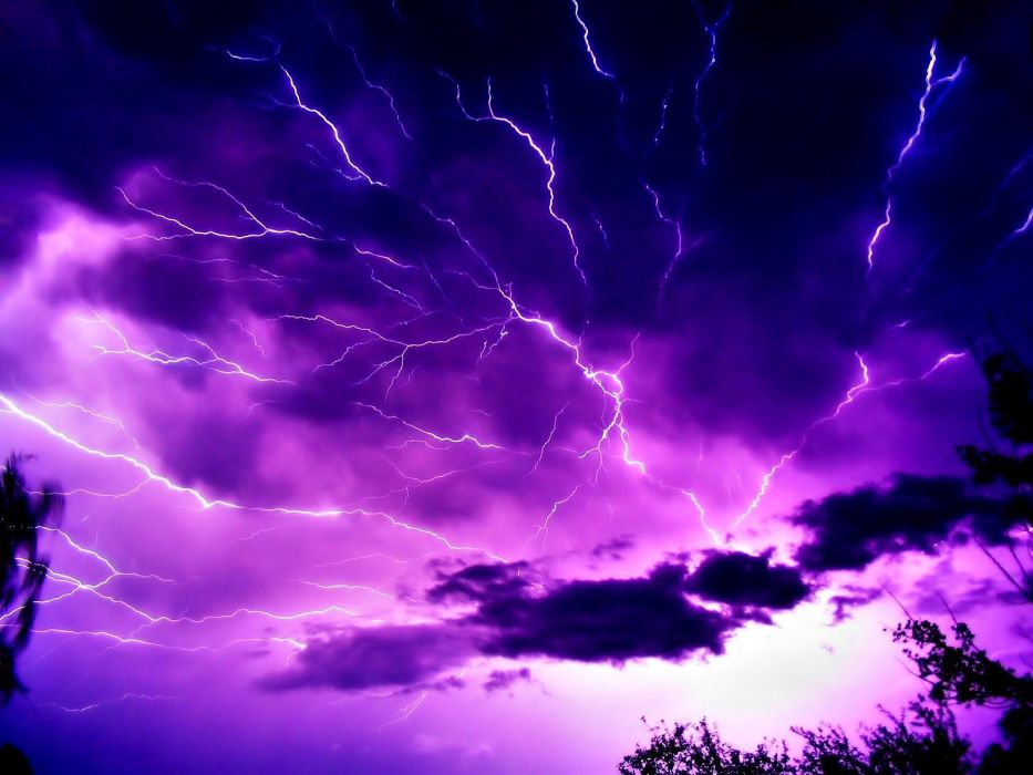 lightning storm rain clouds sky nature thunderstorm wallpaper
