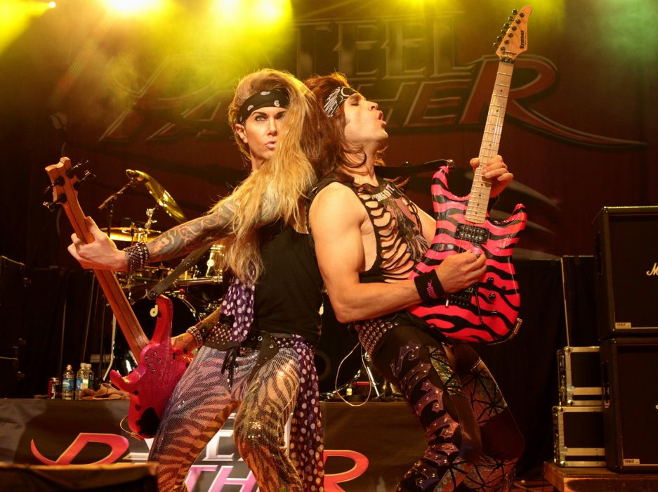 HAIR METAL heavy glam hard rock poster steel panther concert guitar wallpaper