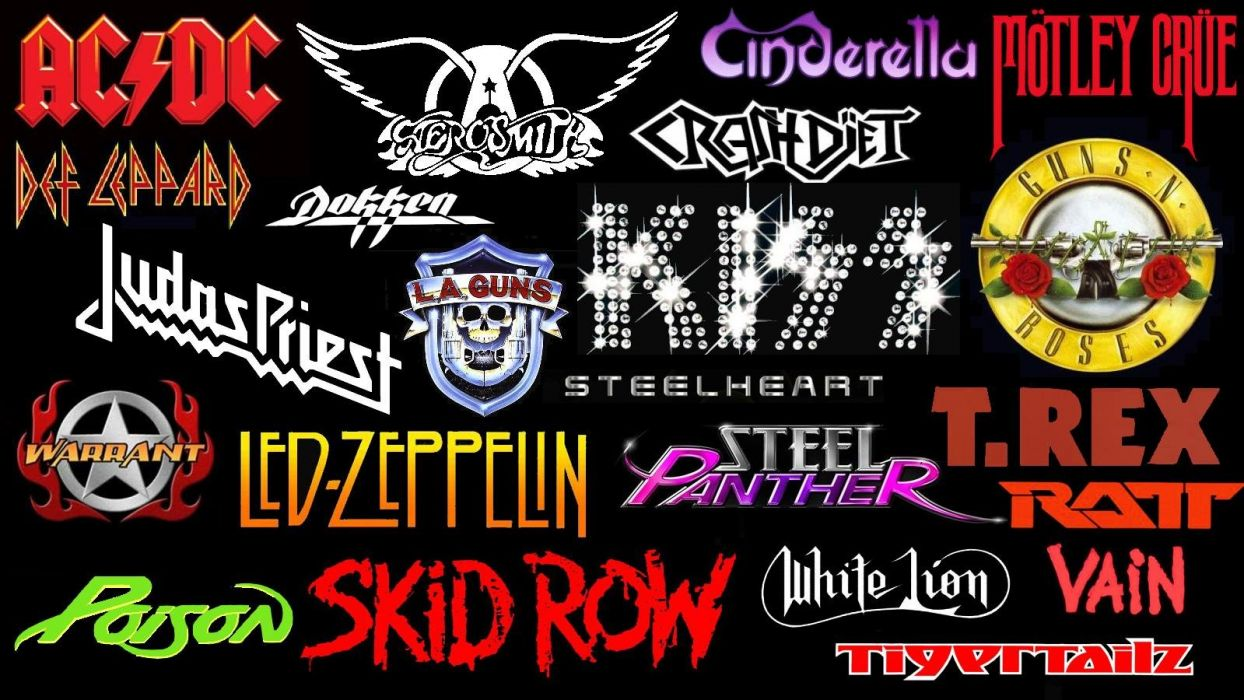 HAIR METAL heavy glam hard rock poster logo wallpaper