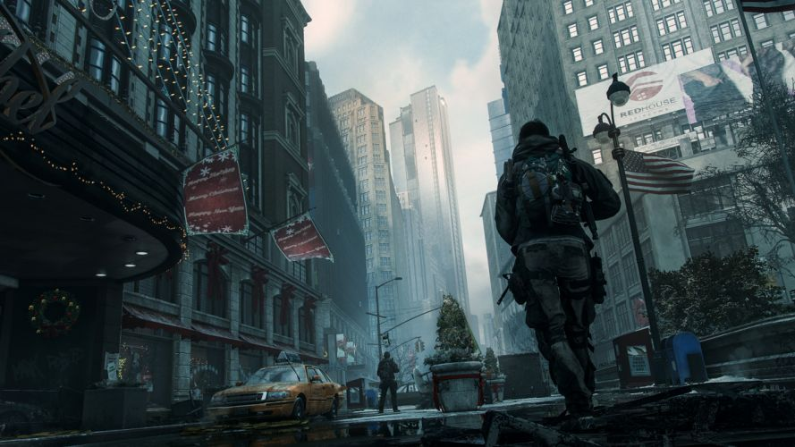 TOM CLANCYS DIVISION tactical shooter military warrior soldier clancy sci-fi wallpaper