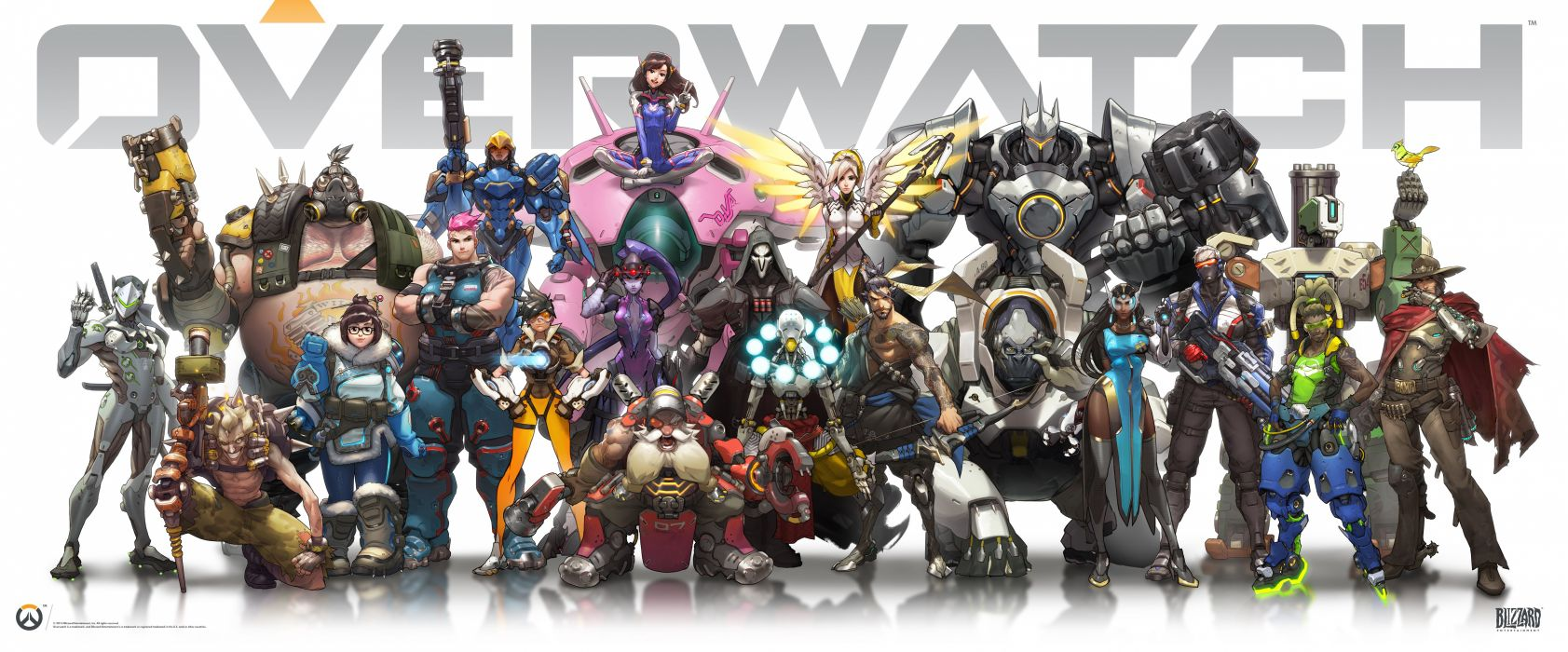 OVERWATCH shooter action fighting mecha sci-fi futuristic warrior poster wallpaper