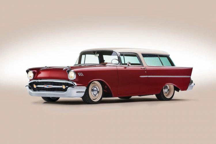 1957 Chevrolet Chevy Nomad Wagon Custom Kustom Streetrod Street Rod Rodder Low USA -01 wallpaper