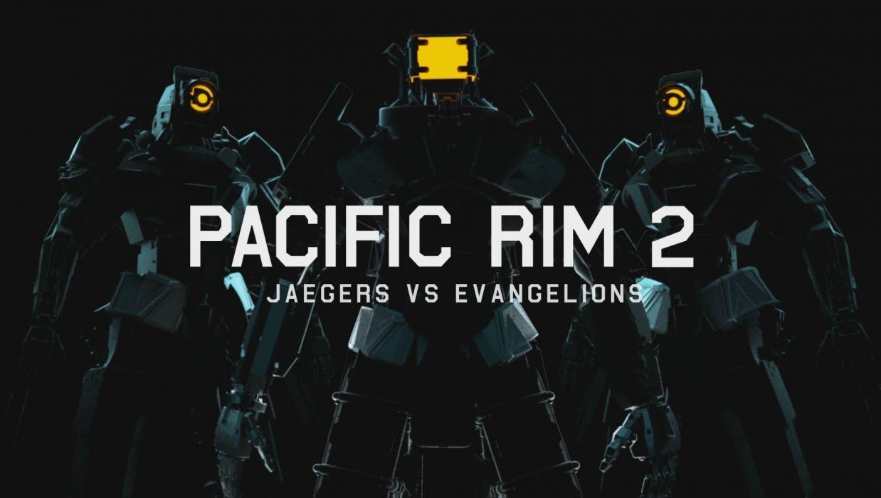 PACIFIC RIM mecha robot warrior sci-fi futuristic poster wallpaper