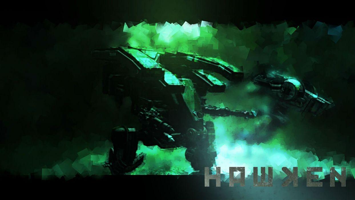 HAWKEN online mech mecha shooter robot futuristic sci-fi poster wallpaper