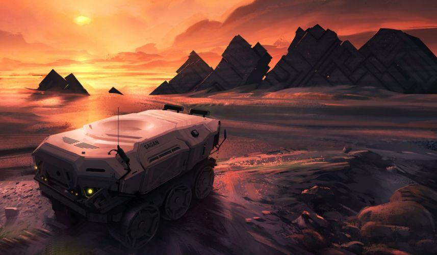 sci-fi futuristic art artwork artistic original science fiction wallpaper