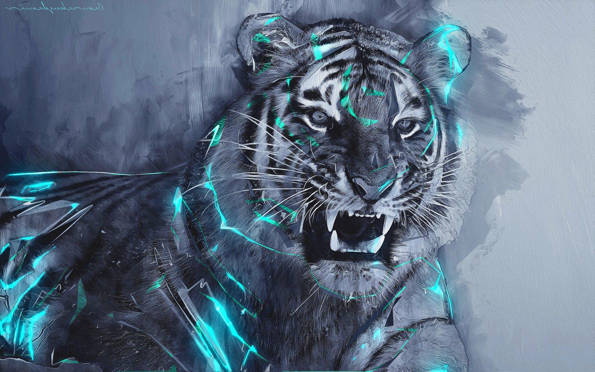 Тигры картинки фэнтези