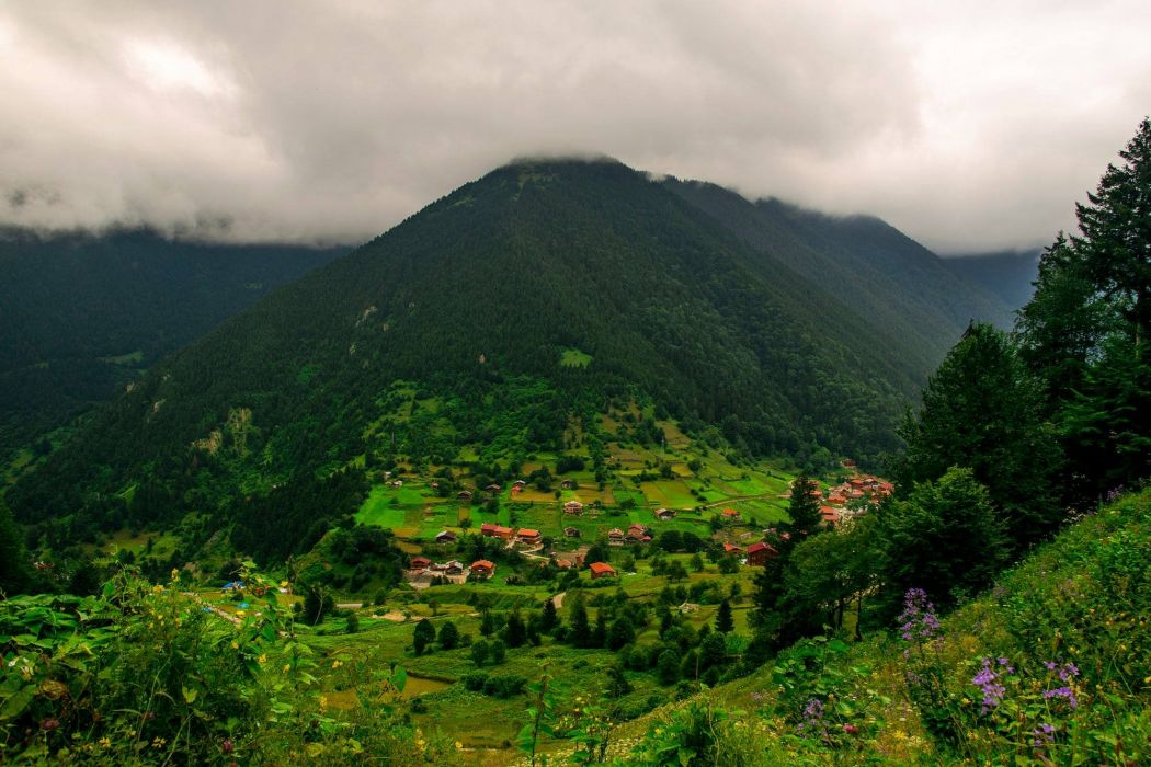 caykara Trabzon landscape nature beauty amazing mountain sky clouds wallpaper