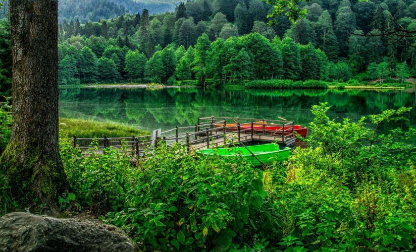 Karagol Artvin turkey landscape nature beauty amazing lake forest sky wallpaper