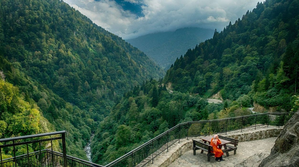 turkey landscape nature beauty amazing mountain sky Zil Kale Rize wallpaper
