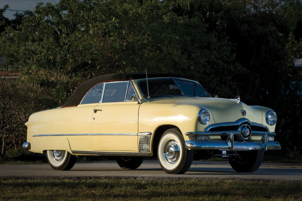1950 Ford Custom Deluxe Convertible Coupe Cars Classic Wallpaper 4096x2726 961354 Wallpaperup