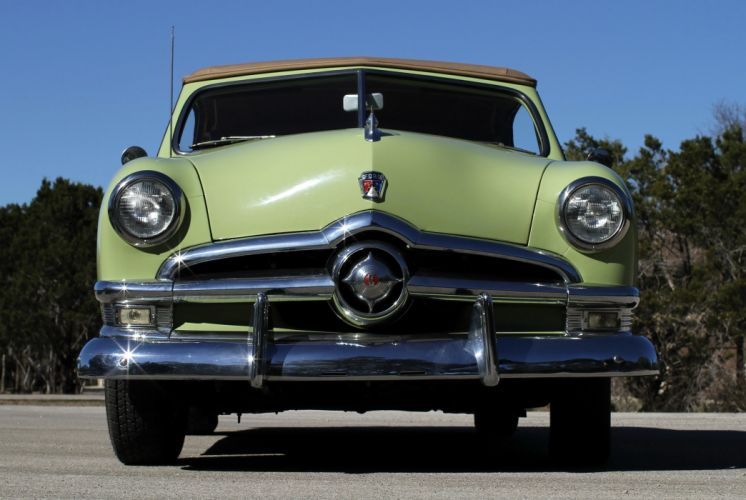 1950 Ford Custom Deluxe Convertible Coupe cars classic wallpaper