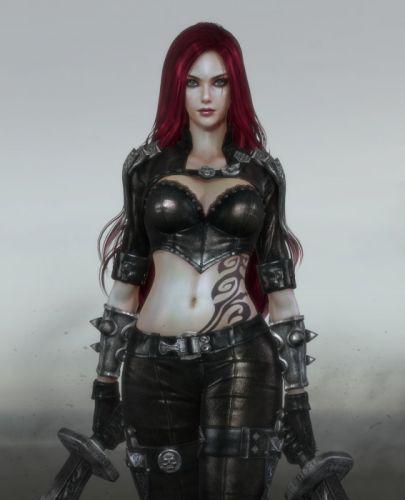 fantasy original girl woman character long hair beautiful red hair warrior wallpaper