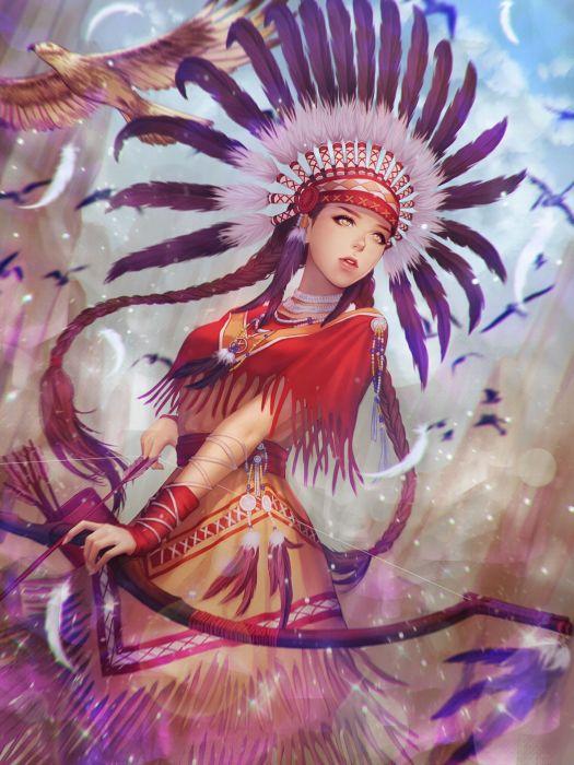 fantasy original girl woman character long hair beautiful wallpaper