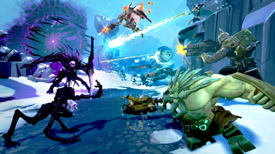 BATTLEBORN shooter rpg fantasy sci-fi futuristic battle warrior action fighting mecha robot arena war wallpaper