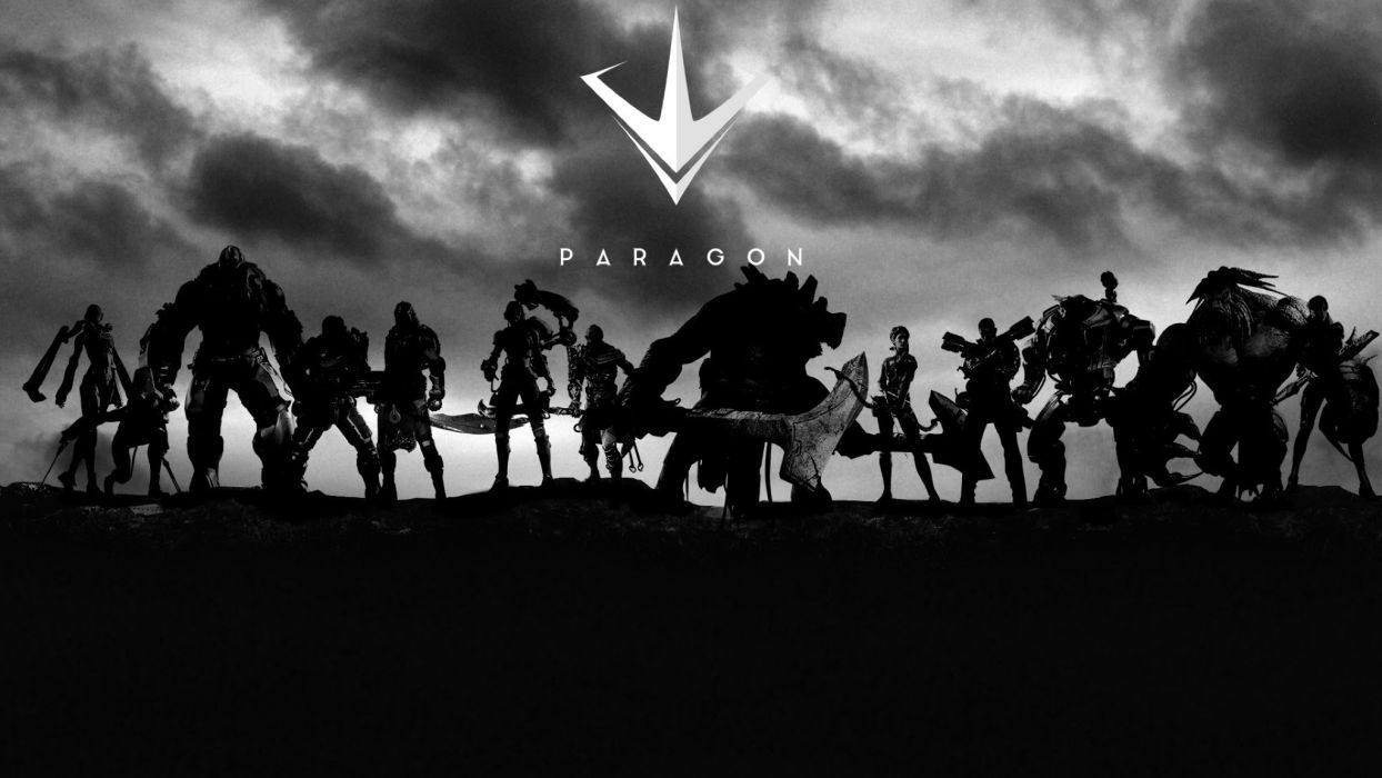 PARAGON online battle arena sci-fi futuristic warrior war shooter action fighting robot cyborg armor 1parag mecha poster wallpaper