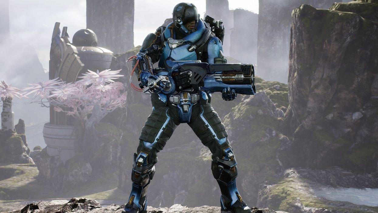 Paragon Online Battle Arena Sci Fi Futuristic Warrior War Shooter
