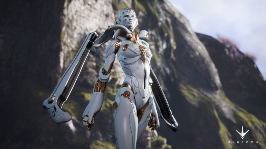 PARAGON online battle arena sci-fi futuristic warrior war shooter action fighting robot cyborg armor 1parag mecha wallpaper