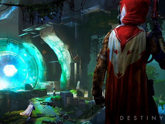 DESTINY sci-fi shooter fps action fighting futuristic warrior fantasy mmo online rpg poster wallpaper