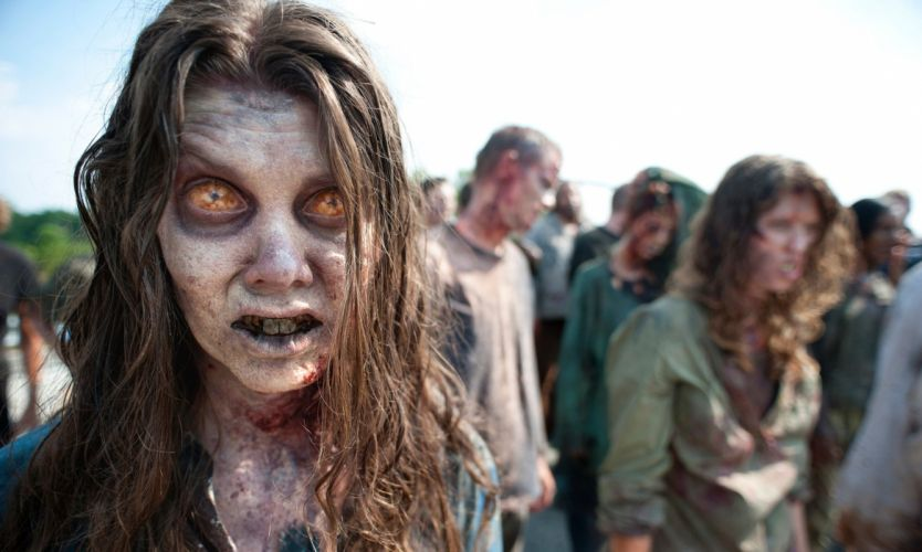 WALKING DEAD horror series dark zombie evil wallpaper