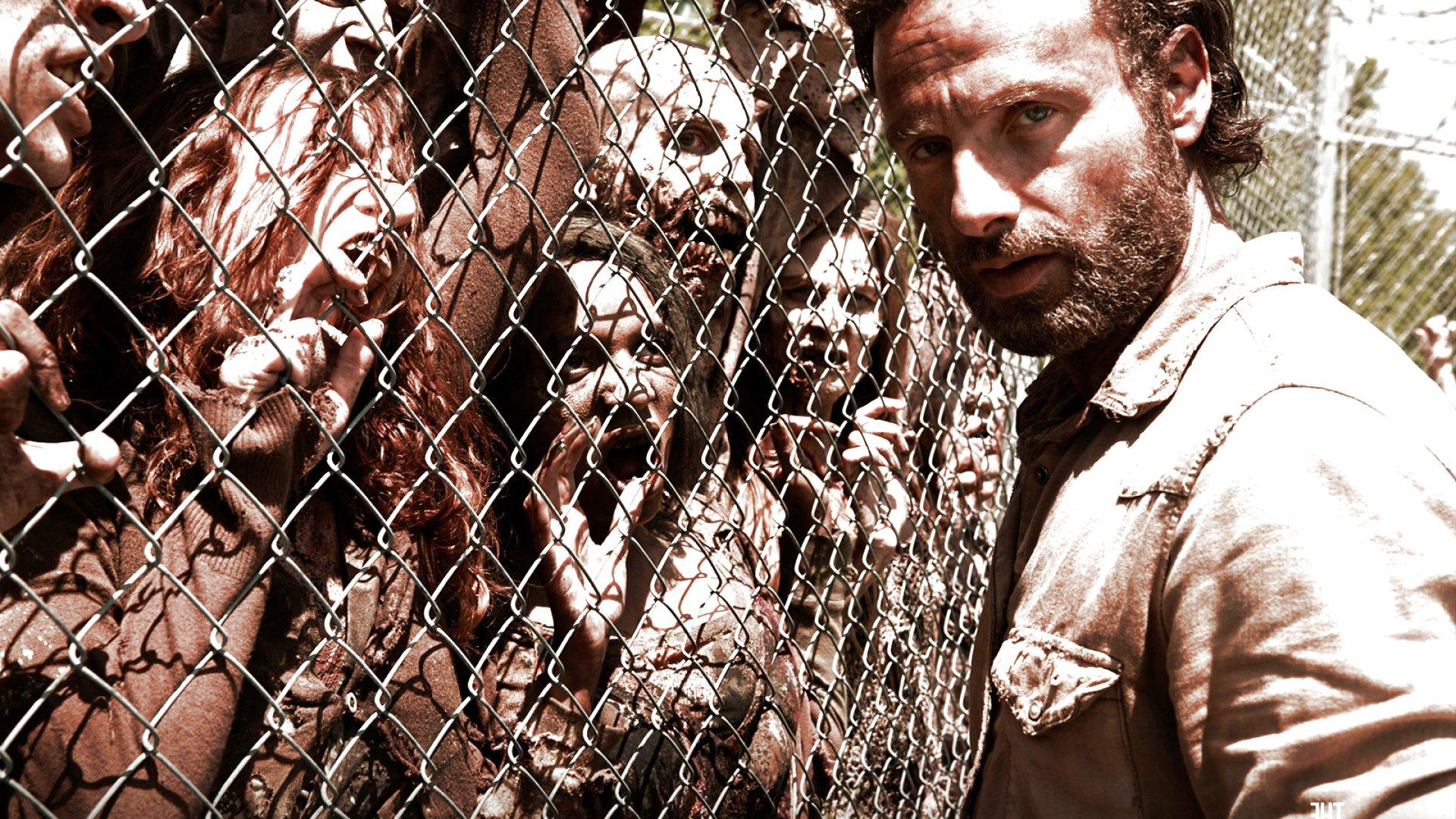 WALKING DEAD horror series dark zombie evil wallpaper ...