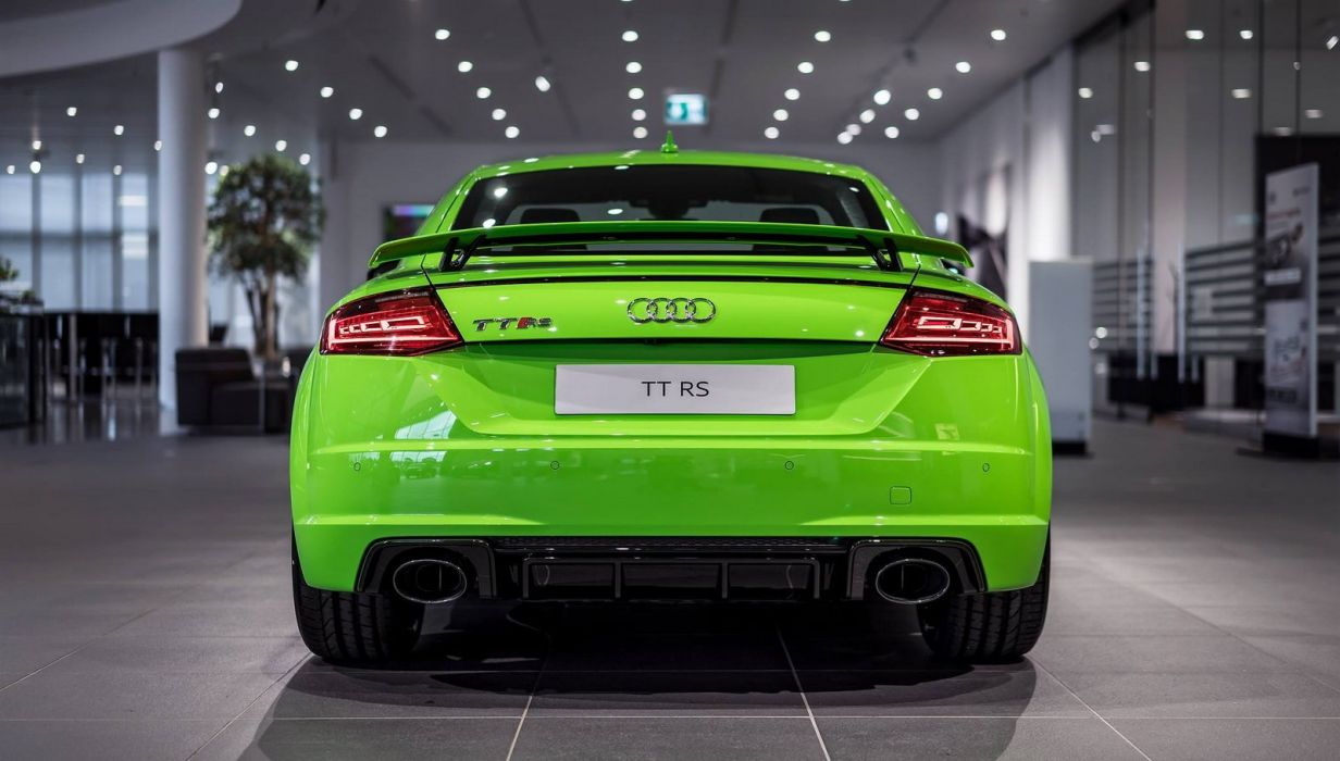 Green Audi TT-RS cars 2016 wallpaper
