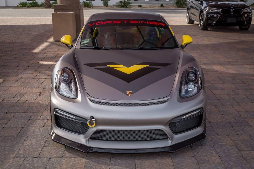 Vorsteiner V-CS Aero kit Cayman GT4 cars modified 2016 wallpaper